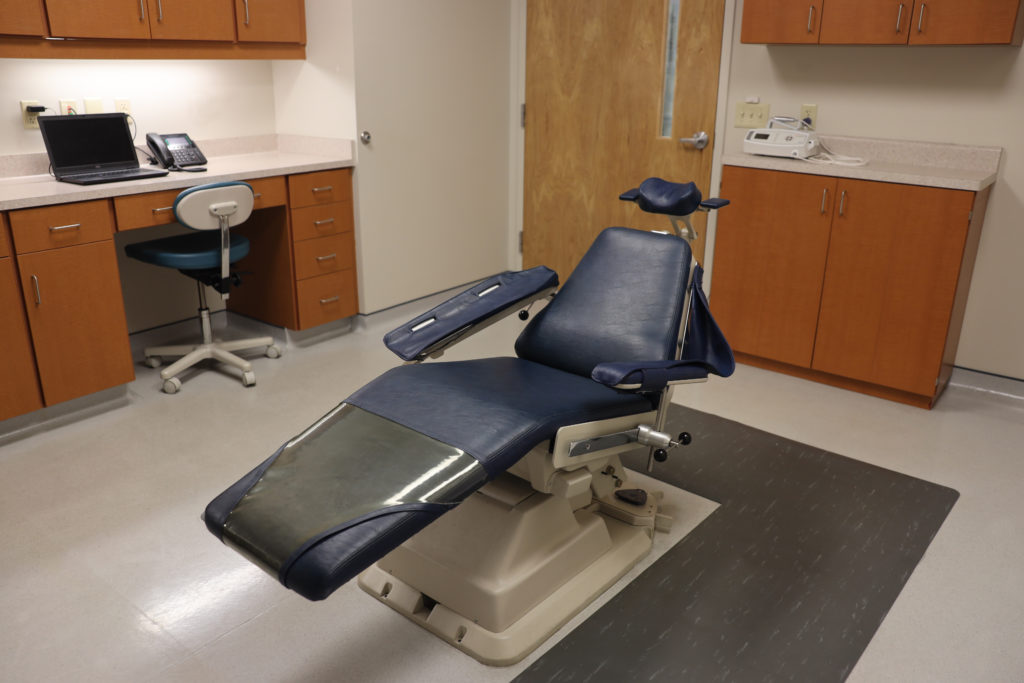 Chair in surgery room at Rockcliff