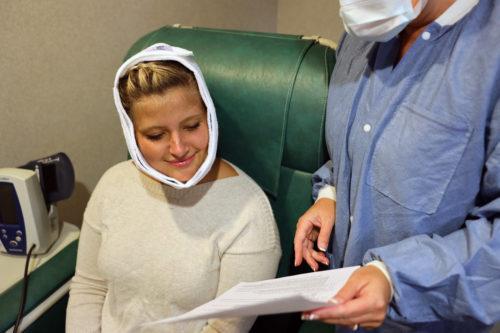patient receiving post-op instructions